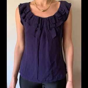 Anthropology Leifsdottir purple silk blouse Size 2